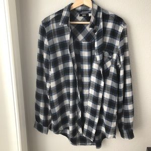 BDG blue and gray soft flannel